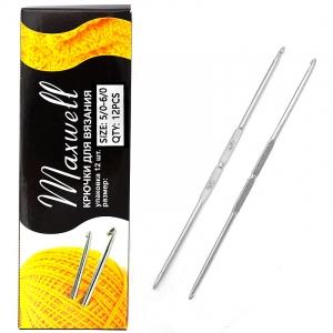 Крючок для вязания ТВ-СН-01 Maxwell Black №5/0-6/0 двусторонний. 2,7 мм- 3,0 мм