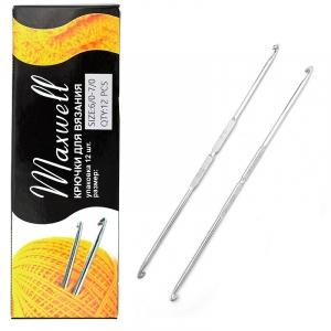 Крючок для вязания ТВ-СН-01 Maxwell Black №6/0-7/0 двусторонний. 3,0 мм- 3,2 мм