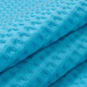 Ткань на отрез вафельное полотно гладкокрашенное 150 см 240 гр/м2 7х7 мм цвет 437 бирюзовый