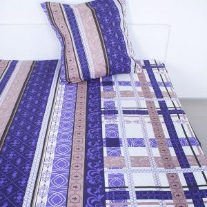 Комплект простыня 1.5 сп + 1 нав. 70/70 бязь 301/3 Аккорд цвет фиолетовый