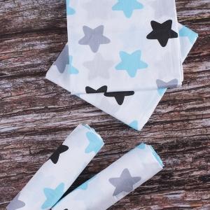 Набор детских пеленок поплин 4 шт 73/120 см 1798/2 цвет голубой