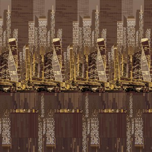 Бязь Премиум 220 см набивная Тейково рис 6823 вид 1 Легенда голд