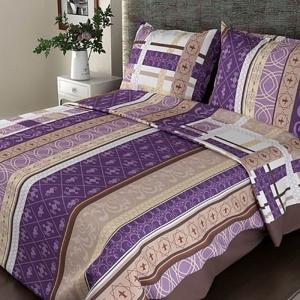 Постельное белье бязь ГОСТ 301/3 Аккорд цвет фиолетовый 1.5 сп с 1-ой нав. 70/70
