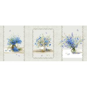 Мерный лоскут рогожка 150 см 11998/1 Полевые цветы 1 шт