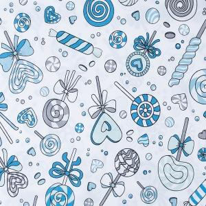 Ткань на отрез бязь плательная 150 см 8107 Карамель цвет бирюза