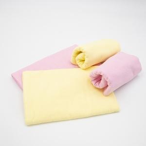 Набор детских пеленок фланель 4 шт 75/120 см Роза/Желтый