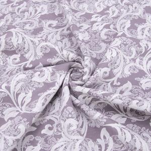 Ткань на отрез кулирка 2252-V2 Узор цвет лиловый