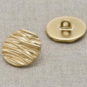 Пуговица металл ПМ5 17мм золото плоская уп 12 шт