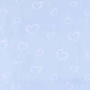 Ткань на отрез бязь плательная 150 см 1970/2 Флирт цвет голубой о/м