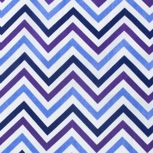 Ткань на отрез бязь плательная 150 см 7778/2 Зигзаг цвет фиолетовый