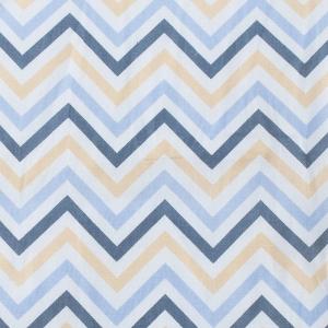 Ткань на отрез бязь плательная 150 см 7778/1 Зигзаг цвет бежевый