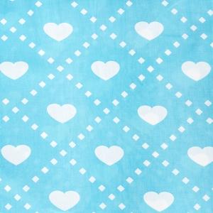 Ткань на отрез бязь плательная 150 см 1958/2 Любовь цвет бирюза