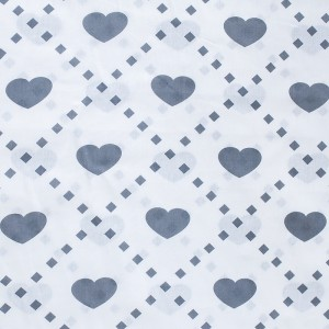 Ткань на отрез бязь плательная 150 см 1958/4 Любовь цвет серый