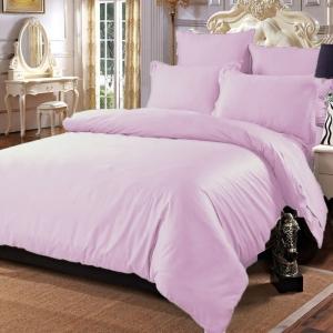 Простыня сатин цвет розовый 2 сп