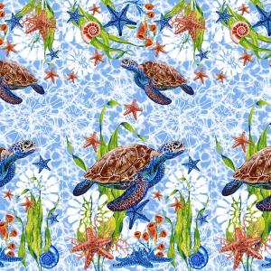 Вафельное полотно набивное 150 см 3032-1 Черепаха