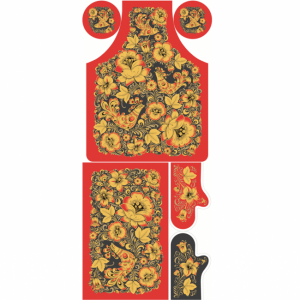Ткань на отрез полулен купонный 150 см 4017