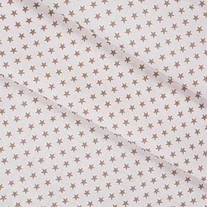 Ткань на отрез бязь плательная 150 см 8133/1 Мелкие звездочки 0.5 см цвет кофе
