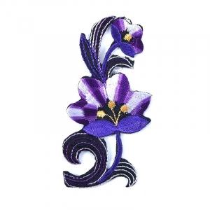 Аппликации термо 104-2 (10х5) Цветок цвет фиолетовый