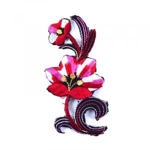 Аппликации термо 104-6 (10х5) Цветок цвет красный