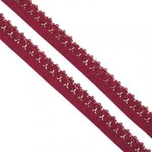 Резинка TBY бельевая 12 мм RB01178 цвет F178(05) бордовый уп 100 м