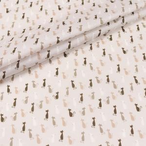 Ткань на отрез перкаль 150 см 90112 Кошечки