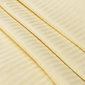 Ткань на отрез Страйп сатин полоса 1х1 см 240 см 140 гр/м2 В009 цвет светло-желтый