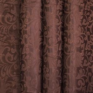 Портьерная ткань 150 см 100/2С цвет 9 коричневый