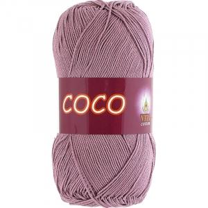 Coco 4307 100% мерсеризованный хлопок 50гр 240м (Индия) цвет пыльн.роза