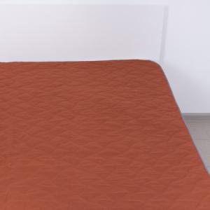 Покрывало детское ультрастеп двухстороннее цвет кирпичный 105/150