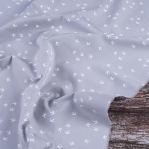 Ткань на отрез перкаль 150 см 306/6 Птички цвет серый