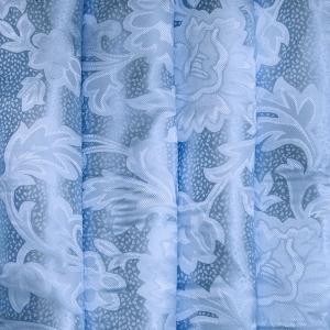 Портьерная ткань 150 см на отрез 68 цвет голубой ветка
