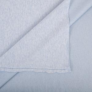 Ткань на отрез футер петля с лайкрой 32-12 меланж цвет голубой