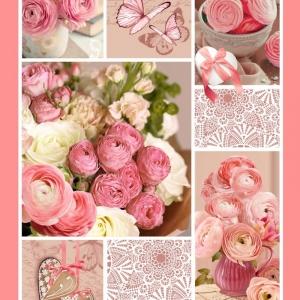 Полотно вафельное 50 см набивное арт 60 Тейково рис 5612 вид 1 Розовый пэчворк