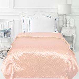 Покрывало детское шелк 65/150 см с оборками 20 см цвет персиковый