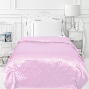 Покрывало детское шелк 65/150 см с оборками 20 см цвет розовый