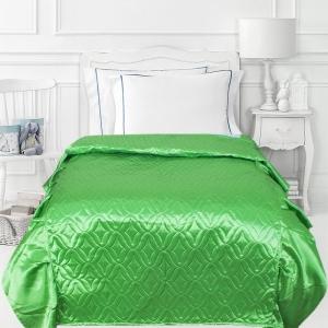 Покрывало детское шелк 65/150 см с оборками 20 см цвет зеленый