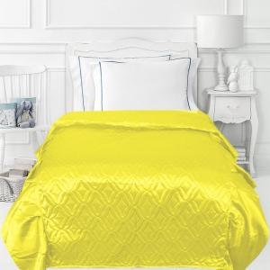 Покрывало детское шелк 65/150 см с оборками 20 см цвет желтый