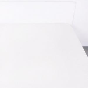 Простыня на резинке поплин цвет белый 90/200/20 см