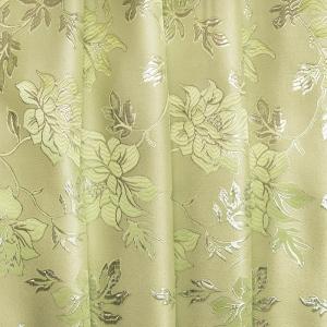 Портьерная ткань с люрексом 150 см Н627 цвет 11 салатовый цветы