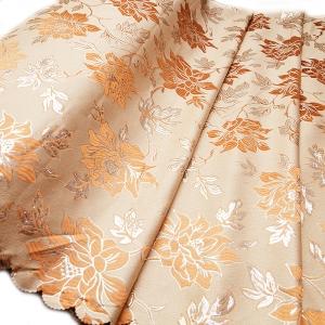 Портьерная ткань с люрексом 150 см Н627 цвет 1 бежевый цветы