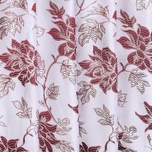 Портьерная ткань с люрексом 150 см Н627 цвет 12 серебристый цветы