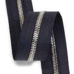 Молния рулонная металл №5СТ никель D196 темно-синий  1м