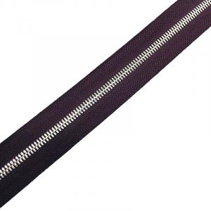 Молния рулонная металл №5СТ никель D254 темный фиолет 1м