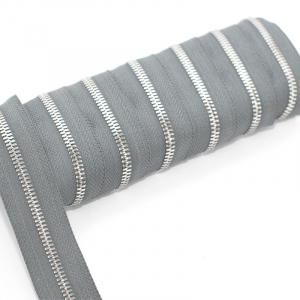 Молния рулонная металл №5СТ никель D329 светло серый  1м