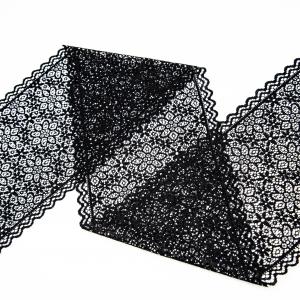 Кружево эластичное  18см черный 2272 1м