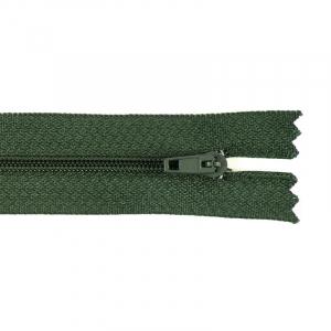 Молния пласт юбочная №3 18 см цвет 266 зеленый