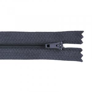 Молния пласт юбочная №3 40 см цвет т-серый