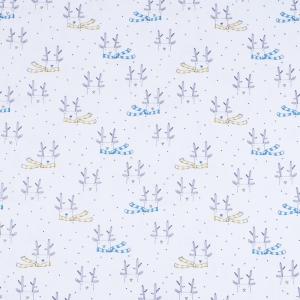 Ткань на отрез интерлок Олени в шарфе R078