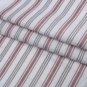 Ткань на отрез полулен полотенечный 50 см 3/99/83 Полоса лосось петунья 703096