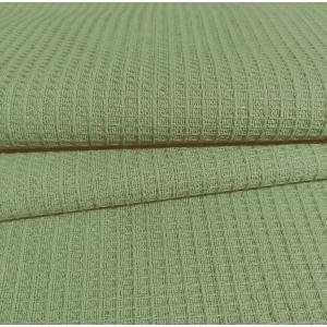 Ткань на отрез вафельное полотно гладкокрашенное 150 см 165 гр/м2 цвет олива